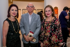 Ana Jucá, Gerson Fonteles e Renata Jereissati