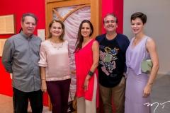Claudio e Lenise Rocha, Manoela e Ricardo Bacelar e Paulinha Sampaio