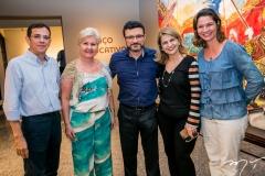 Jackson Sávio, Lidiana Camargo, Henrique Sá, Nise Sanford e Lia Brasil