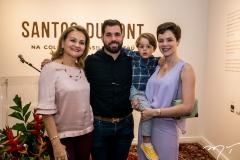 Lenise, Felipe e Bento Rocha e Paulinha Sampaio