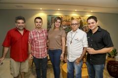 Fernando Chavez, Sérgio Soares, Rejane Arruda, Manoel Oliveira e Wellington Alves