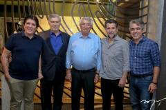 Dito Machado, Amarilio e Roberto Macedo, André Scarlazzari e Marcos Braga
