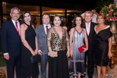 Cleiton Mota, Sarah Mota, Tarcisio Vasconcelos, Keila Vasconcelos, João Resende, Dulce Mapurunga e Celina Romcy