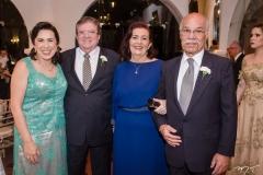 Mônica Cavalcante, Sergio Cavacante, Helena Cavalcante e João Clímaco