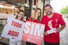 Aline Amorim, Lara Calado e Paulo França