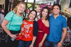 Andréa e Larissa Delfino, Aline e Daniel Borges