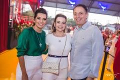 Márcia Travessoni, Daniela e Afrânio Barreira