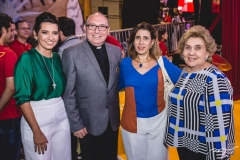 Márcia Travessoni, Pe Eugênio, Regina Ximenes e Consuelo Dias Branco