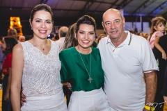 Onélia Santana, Márcia e Fernando Travessoni
