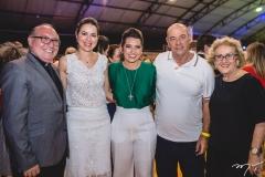 Pe Eugênio, Onélia Santana, Márcia e Fernando Travessoni e Socorro França