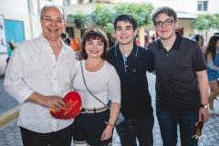 Roberio, Christiane, Paulo e Pedro Leite