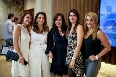 Suzane Farias, Márcia Travessoni, Martinha Assunção, Lorena Pouchain e Letícia Studart