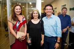 Cláudia Leitão, Raquel Gondim e Francílio Dourado