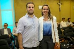 Paulo Salim e Mayara Mota