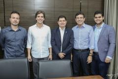 Danilo Serpa, Rui do Ceará, Mauro Benevides, Alexandre Pereira e Davi Benevides