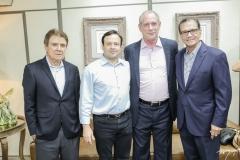 Jorge Parente, Igor Barroso, Ciro Gomes e Beto Studart