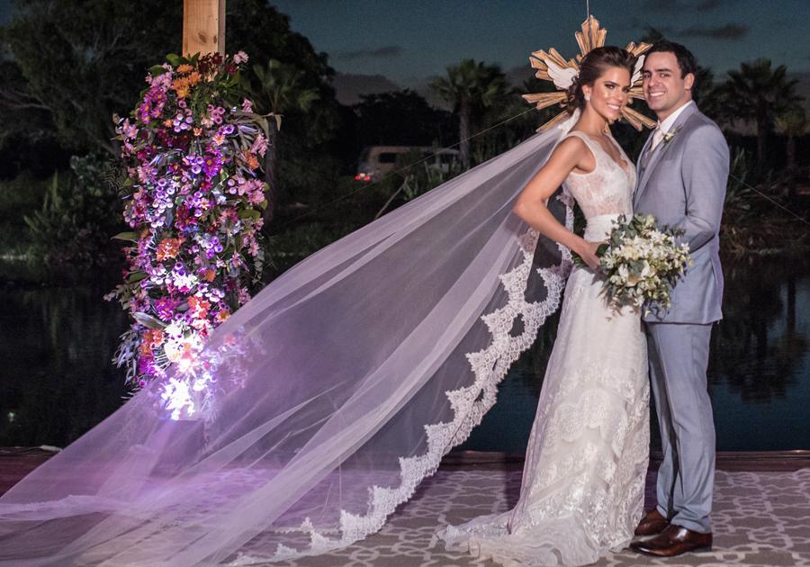 Alice Diniz e Rodrigo Ventura celebram união no Colosso