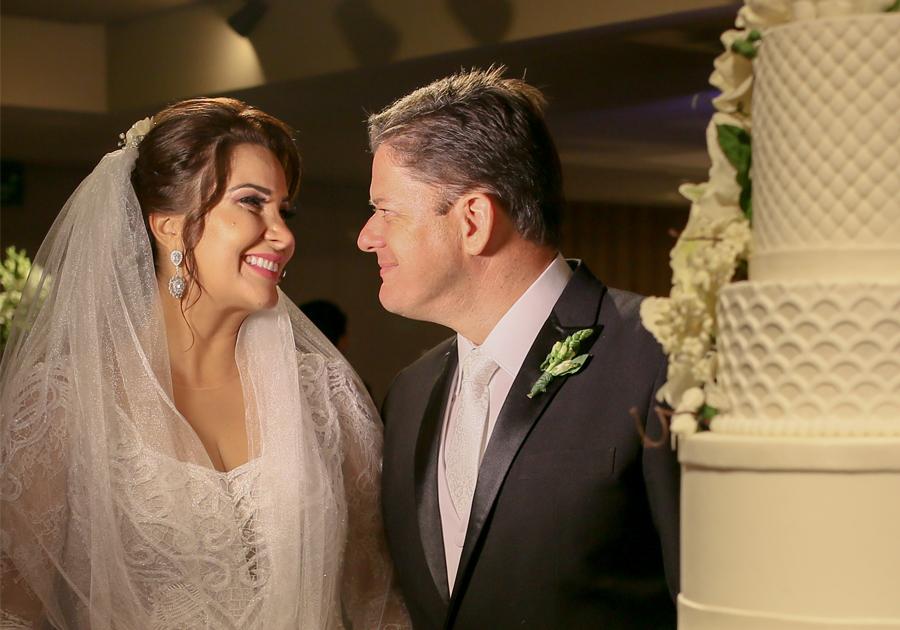 Apaixonados, Mariana Feitosa e Marcelo Potrich se casam no Gran Marquise; veja fotos